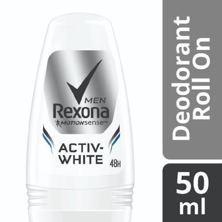 Rexona Men Activ-White dengan vitamin dan mineral dapat memberikan efek 5x mencerahkan*. Memberikan perlindungan tahan lama terhadap keringat dan bau badan, menjagamu tetap segar sepanjang hari. Deodorant pencerah pertama yang diformulasi khusus untuk pri