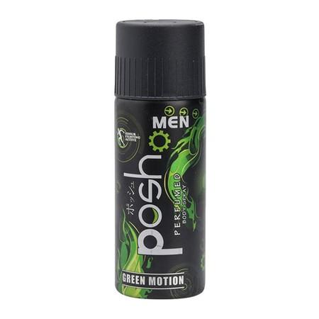 Posh Men Body Spray Green Motion 150Ml Merupakan Body Spray Dengan Memiliki Perlindungan Anti Bacterial Untuk Membunuh Kuman Penyebab Bau Badan