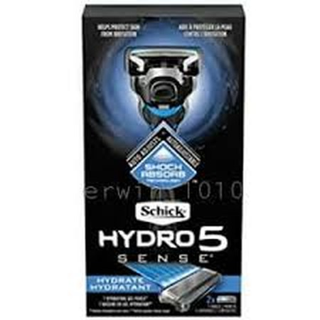 Pisau cukur Schick Hydro 5 Sense, pisau cukur yang dirancang untuk memberikan pencukuran yang dipersonalisasi. Dilengkapi dengan Teknologi Shock Absorb, ia menyesuaikan secara otomatis berdasarkan cara Anda bercukur. Tiga formula gel memungkinkan Anda unt