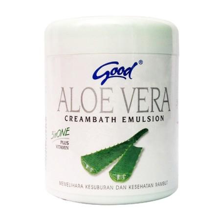 Good Aloevera Creambath Emulsion 3 In 1 Plus Vitamin Paduan Sempurna 3 Unsur Dalam 1 Sistem Pemeliharaan Dan Perawatan Kulit Kepala Dan Rambut Yang Terdiri Darialoevera Extract Yang Didalamnya Terdapat Mineral Dan Vitamin A, C, E Yang Berguna Untuk Merawa