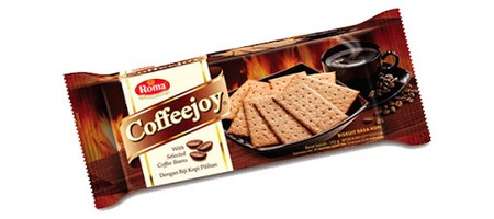 Coffee Joy, delicious thin crispy cracker with a unique taste of real coffee.