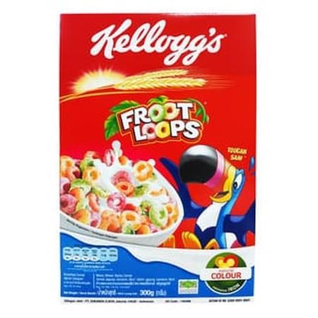 Kellogg'S Froot Loops Sereal 300 G Merupakan Makanan Yang Terbuat Dari Bahan Berkualitas Dan Asli Untuk Sarapan Pagi Yang Lezat Dan Renyah. Makanan Ini Berisi Nutrisi Penting Untuk Kebutuhan Tubuh. Sehingga Anda Dapat Menikmati Nutrisinya Dan Mendapatkan