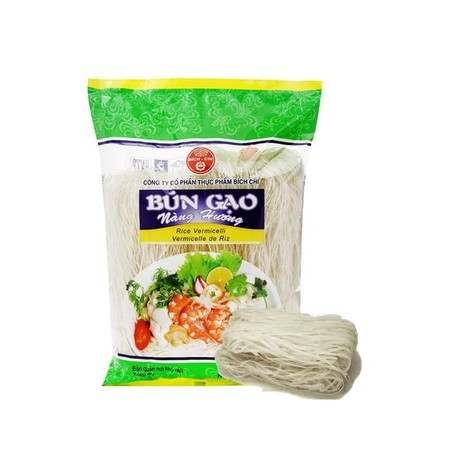 Bich Chi Rice Vermicelli With Secret Fiber Is Made From Rice Starch , Making Noodles Tenacious, Loose, Either Fried Or Cooked Is Tasty. With Advanced Technology And Strict Management Procedures, No Borax And Bleaches So It Can Be Used Safely. How To Cook