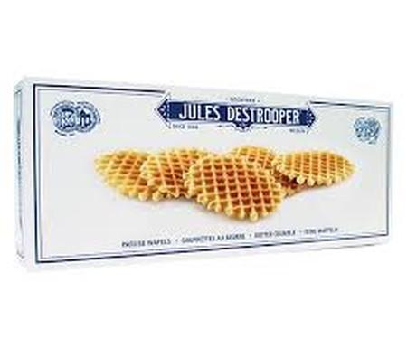100% Natural. Jules Destrooper hanya menggunakan bahan-bahan asli, tanpa menambahkan pengawet, pewarna buatan dan tanpa pewarna buatan. Komposisi Jules Destrooper Rice Crisp : Summer Butter, Telur, Gula dan tepung