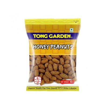 Tong Garden Honey Peanut 42gr merupakan makanan ringan yang terbuat dari kacang kulit yang dilapisi madu menghasilkan kombinasi gurih manis dan renyah. Terbuat dari kacang kulit berkualitas tinggi dan diproses secara modern dan higienis menciptakan citara