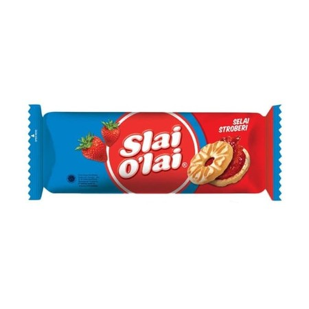 Slai O'Lai sandwhich biscuit offers variety of delicious real fruit jam. The ultimate taste sensation that expresses color of your life. Variant : Strawberry Roll