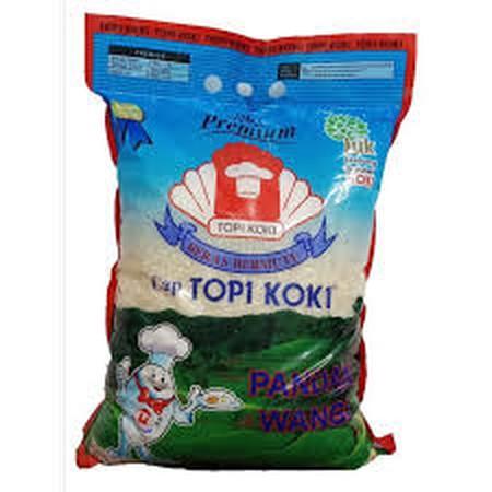 Topi Koki Pandan Wangi adalah beras bebas kimia dan pestisida yang sehat dikonsumsi oleh seluruh keluarga. Beras Pandan Wangi ini memiliki aroma khas pandan yang didapat secara alami, bukan hasil penyemprotan pewangi sintestis yang banyak ditemukan di ber