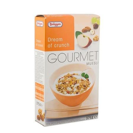 Briiggens Gourmet Muesli Dream Of Crunch Cereal Snack Sereal Sehat Buah Import 375Gr Brggen`S Range Of Gourmet Mueslis, Packed With Essential Nutrients And Energy, Make An Important Contribution To A Well-Balanced Diet Day After Day. For An Enjoyable Brea