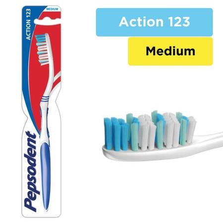Sikat Gigi Pepsodent Action 123, Sikat gigi Unik yang dirancang dengan 3 Fungsi Utama (Mencegah gigi Berlubang, Membersihkan noda di gigi, Memberikan nafas lebih segar). Mencegah Gigi Berlubang. Membersihkan noda di gigi. Memberikan nafas lebih segar