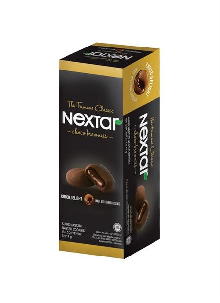 Nextar Brownies 112gr. Nextar Choco Brownies adalah Brownies kukis dengan isi lelehan coklat didalamnya yang memiliki tekstur yang lembut.