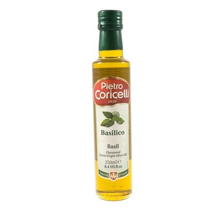 Pietro Coricelli basil adalah extra virgin olive oil yang telah mengandung rasa bassilico.. Produk ini merupakan salah satu jenis produk flavored extra virgin olive oil dari pietro coricelli. Dengan cita rasa basil yang khas, olive oil ini menjadi begitu