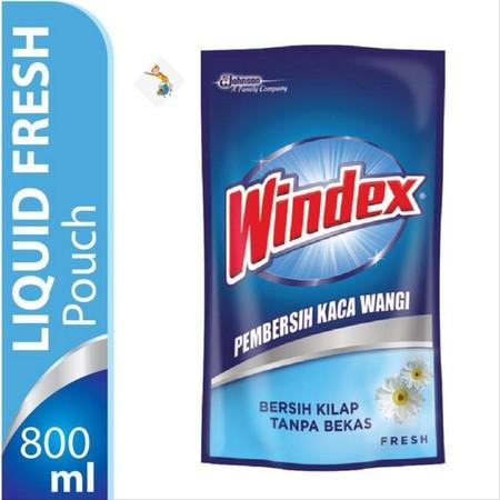 Windex Liquid Fresh Pouch 425 Ml. Merupakan Cairan Pembersih Yang Membantu Membersihkan Kotoran Dan Noda Pada Jenis Permukaan Yang Terbuat Dari Kaca Untuk Membuat Kaca Bersih Bebas Kilap Tanpa Bekas. Dilengkapi Dengan Formula Khusus Dengan Keharuman Yang