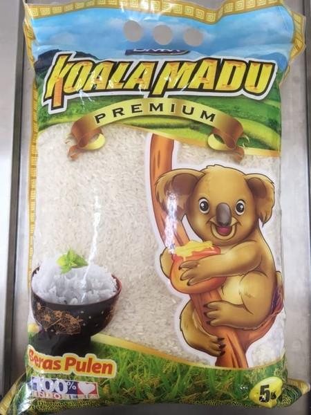 Beras Koala Madu. Beras Pulen Dari Padi Pilihan Yang Diolah Dan Dikemas Secara Modern & Higienis, Bebas Dari Bahan Kimia Sehingga Sangat Baik Dan Aman Dikonsumsi Keluarga Tercinta Anda
