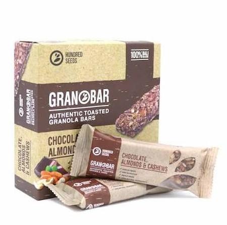 Hundred Seeds Granobar Chocolate Almond & Cashew Granola Makanan 5 Pcs Cemilan Sehat Kaya Nutrisi Kini Anda Tak Perlu Takut Gemuk Saat Ngemil, Karena Terdapat Cemilan Sehat Dan Enak Tanpa Membuat Anda Gemuk Yaitu Hundred Seeds Granobar. Granola Bar Ini Ka
