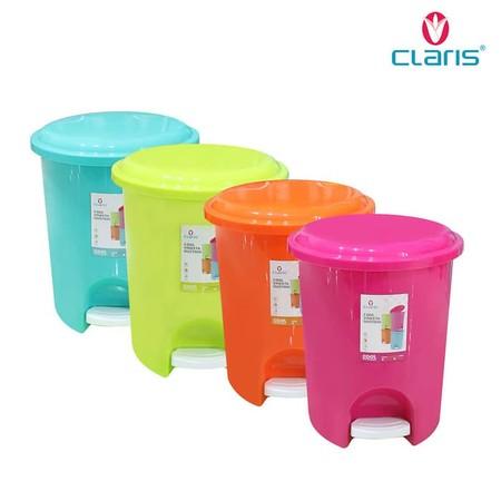 Tempat Sampah Claris Berbahan Plastik PP dengan kapasitas 11 Liter