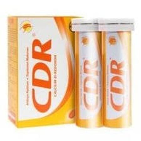 CDR Calcium D-Redoxon Twin Pack mengandung kalsium karbonat, vitamin B6, vitamin C, dan vitamin D untuk menjaga kesehatan tubuh dan memenuhi kebutuhan kalsium. Suplemen kalsium, vitamin C, D, B6 agar tulang sehat, membantu memenuhi kebutuhan kalsium pada