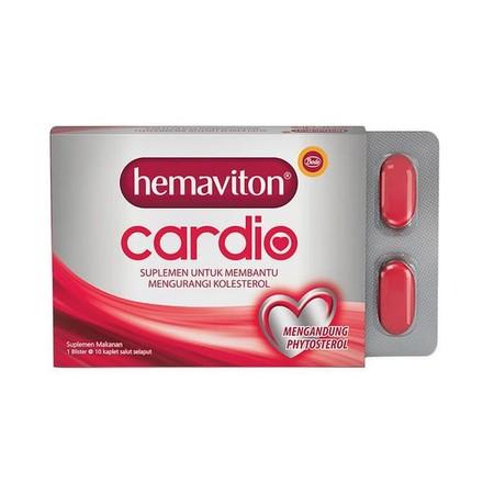 Hemaviton cardio merupakan suplemen kesehatan yang mengandung phytosterol yang dapat menghambat kolesterol dari makanan sebelum masuk ke dalam darah. Hemaviton cardio dilengkapi dengan vitamin dan mineral yang berberan sebagai antioksidan untuk menghambat