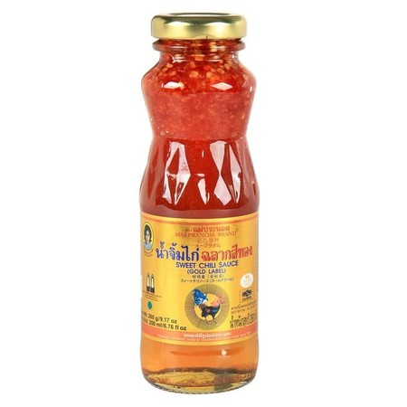 Mae Pranom Dipping For Chicken Golden Label 200ml adalah saus yang biasa digunakan saat mengonsumsi ayam. Terbuat dari rempah-rempah yang memberikan rasa yang khas