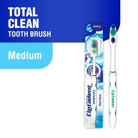Total Clean -Fusion Design Pola Infinity 8 Dengan Perpaduan Bulu Halus Dan Bulu Keras -Multi Lines Cleaner Pembersih Lidah Bagian Belakang Sikat Gigi -Slim Head Kepala Sikat Gigi Lansing Dan Tipis -Fusion Handle