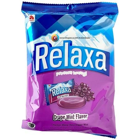 Relaxa Grape Permen [125 g] merupakan permen yang membuat mulut segar sehingga membuat Anda semakin percaya diri untuk berinteraksi dengan siapa saja. Terbuat dari bahan-bahan alami sehingga sangat aman dikonsumsi oleh siapapun. Permen ini membantu Anda m