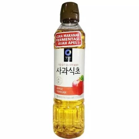 Daesang Apple Vinegar Cuka [500 Ml] Adalah Cuka Apel Yang Terbuat Dari Komposisi Air, Ekstrak Buah Apel, Sirup Oligosakarida, Spirits, Pencita Rasa Apel, Dan Ragi Ekstrak. Mengandung Alkohol 0,13%. Cocok Membuat Aroma Masakan Anda Lebih Kuat Dan Sempurna.