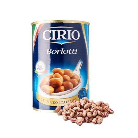 Borlotti Beans: Picked And Packed Within 24 Hours To Maintain Their Flavour And Consistency. Borlotti Are The Tastiest Beans, Suitable For Preparing Pasta Dishes Or Soups.   As Cirio Borlotti Beans Contain No Preservatives, Store In The Refrigerator After