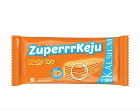 Roma Zuperrr Keju merupakan sebuah wafer renyah , yang dilapisi oleh krim keju , yang memberikan kepuasan tiada tara dengan keju tambahan.