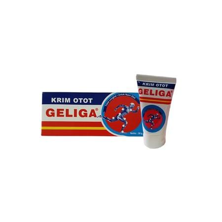 Krim Otot Geliga diproduksi oleh PT. Eagle Indo Pharma dan telah terdaftar pada BPOM. Pada setiap 1 gram Krim Otot Geliga mengandung 160mg menthol yang memberikan sensasi dingin dan 140mg methyl salicylate. Krim Otot Geliga dapat digunakan untuk membantu
