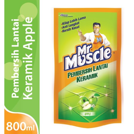 Mr. Muscle Axi Keramik Apel Pembersih Lantai [800 Ml/ Pouch] Merupakan Pembersih Lantai Yang Akan Membuat Lantai Rumah Anda Terlihat Lebih Bersih Dan Anak Anda Aman Saat Bermain Dilantai. Oleh Karenanya, Cairan Pembersih Lantai Ini 99% Ampuh Membunuh Kuma