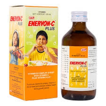 Sirup vitamin B Kompleks dengan Vitamin C Plus Vitamin A % D untuk memnuhi kebutuhan Vitamin B Kompleks, Vitamn C, A & D serta memelihara kesehatan anak pada masa pertumbuhan. Beli Enervon C Plus Syr 120 ml di k24klik dan dapatkan manfaatnya.