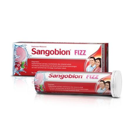 SANGOBION FIZZ EFF 10S TUBE merupakan Suplementasi zat besi, multivitamin dan mineral untuk membantu pembentukan sel darah merah karena kekurangan zat besi (anemia) dan menjaga kesehatan tubuh, dalam sediaan effervensenct. Dengan rasa Cranberry yang segar