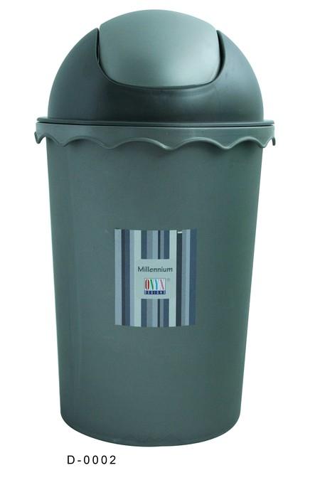 Onyx tempat sampah bundar 9 Liter dengan tutup