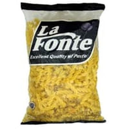 Fusilli La Fonte dibuat dengan tradisi khas Italia menggunakan gandum durum pilihan yang memiliki warna kuning asli biji gandum dan tekstur yang tidak mudah hancur.