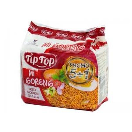 Tip Top Ayam Bawang Mie Instant [68 g/ 5+1] merupakan mie instan yang memiliki rasa yang gurih dan lezat. Terbuat dari bahan Mie Tepung terigu, minyak sayur, tepung tapioka, garam, pemantap, pengatur keasaman, mineral (zat besi) , pewarna (tartrazine Cl19