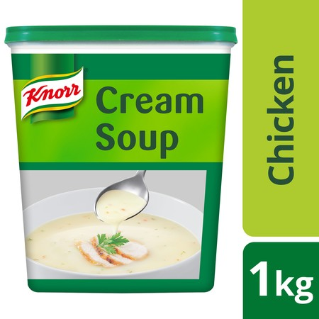 Knorr Cream Of Chicken Soup Is Made With Selected Chicken Meat And Milk To Help You Deliver A Great Tasting, Classic Chicken Soup Which Can Be Used As It Is Or As A Base Sauce For Pies, Sauces, Or Casseroles.