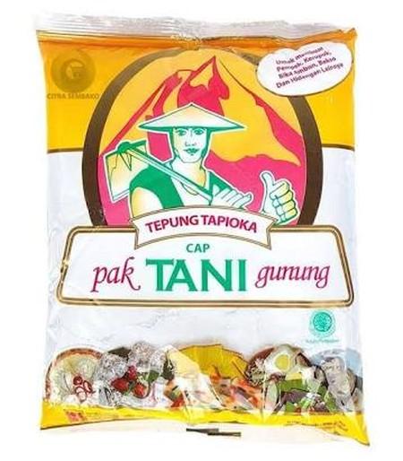 Pak Tani Gunung Tepung Tapioka [500 g] merupakan tepung tapioka 500 g yang terbuat dari tepung pati yang diekstrak dari umbi singkong. Tepung tapioka ini sangat cocok digunakan untuk bahan kerupuk, pempek, tekwan, bakso, siomay, pacar cina, kolak biji sal