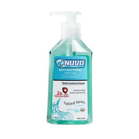 Sabun tangan yang dapat membunuh kuman, dengan wangi yang menyegarkan.