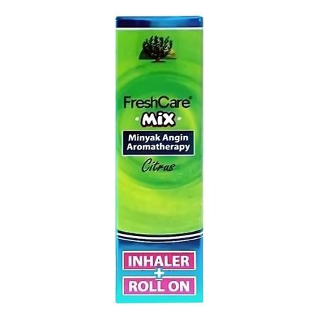 FRESHCARE MIX CITRUS INHALER & ROLL ON merupakan inovasi terbaru dari freshcare yaitu minyak angin aromaterapi berbentuk inhaler dan roll on dalam satu kemasan yang digunakan untuk melegakan hidung tersumbat, sakit kepala, perut kembung, masuk angin, mabu