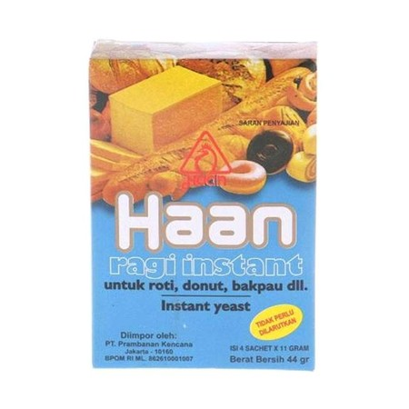 Haan Ragi Instant Menikmati roti buatan sendiri akan ada kepuasan tersendiri. Selain variasi rasa yang bisa diciptakan, rotinya pun terjamin sehat karena semua bahan yang dipakai terjamin higienis. Untuk membuat roti, salah satu bahan yang tidak bisa dilu