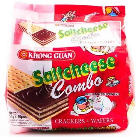 Saltchese Merupakan Biskuit Dengan Wafer Rasa Cokelat Yang Renyah Dan Enak. Cocok Dinikmati Saat Sengang. Dan Kemasannya Dapat Dibawa Kemana-Mana.