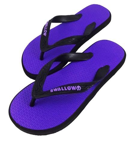 Slipper Swallow adalah Alas kaki berbahan karet yang lentur dan nyaman untuk keperluan sehari hari dengan warna Ungu menarik, size 10