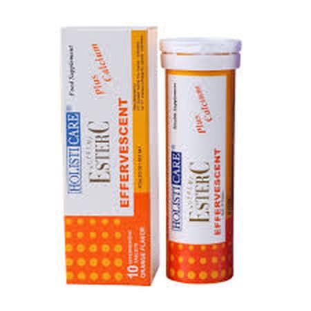 Holisticare Supreme Ester C Eff.Orange [10 Tablet] merupakan Vitamin C inovatif, unik, dipatenkan dan tidak asam (netral) yang diproses secara alamiah sehingga menghasilkan vitamin C yang mudah, lebih cepat dan lebih banyak diserap oleh tubuh. Tidak seper