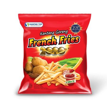 snack yang terbuat dari kentang pilihan dan diolah dengan bumbu istimewa sehingga menghasilkan snack kentang yang gurih dan renyah ditambah dengan saus sambal tomat, nikmatnya French Fries sampai ke jari-jari. Praktis dibawa kemanapun.