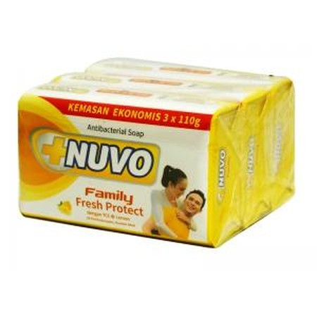 Nuvo Family Bar Soap - Kuning [75 g] merupakan sabun perawatan kesehatan keluarga yang dapat membunuh kuman sampai 99%, mengurangi bau badan dan rasa gatal pada kulit dan memberikan kesegaran lebih lama.