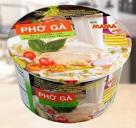 Pho Ga Rice Noodles with Artificial Chicken Flavor is a quick and easy meal solution whenever you're hungry or craving some Pho. The authentic chicken flavored broth, mixed with a hint of basil and lime, creates an aromatic and savory broth that's perfect