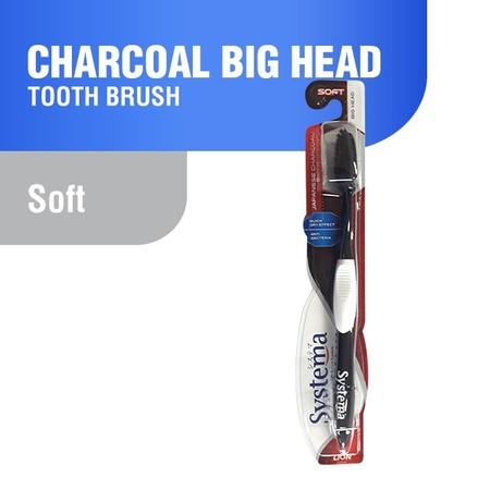 Systema Charcoal merupakan sikat gigi anti bakteri , lebih higenis merawat kesehatan gigi dan memiliki quik dry system agar menekan pertumbuhan bakteri. Bulu sikat dengan desain slim , strong dan soft.