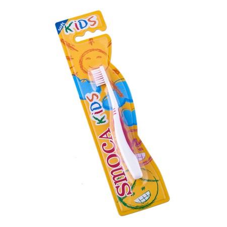 Smoca Kids Toothbrush merupakan sikat gigi yang di rancang dengan bulu sikat lembut sesuai dengan gigi dan gusi anak anda.
