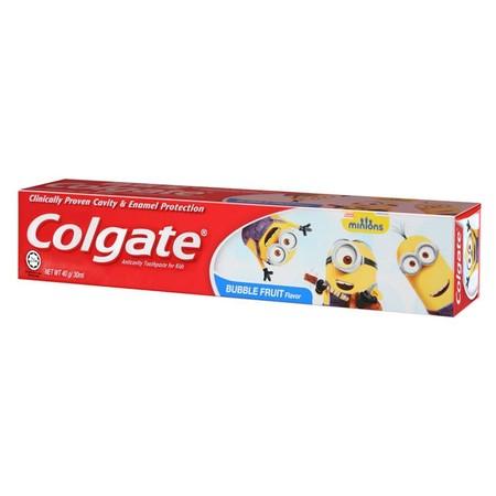 Terbukti Secara Klinis Dapat Membantu Mencegah Gigi Berlubang Dan Enamel. Pasta Gigi Colgate Minion Adalah Awal Yang Baik Untuk Membantu Membersihkan Gigi Anak Dibawah Umur 6 Tahun.