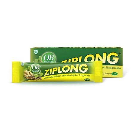 OB herbal ziplong adalah obat yang digunakan untuk meredakan batuk, menghangatkan dan melegakan tenggorokan. Obat ini merupakan golongan obat jamu yang mengandung ekstrak zingiberis rhizoma (jahe), kaempferiae rhizoma (kencur), thymi herba (timi), menthea