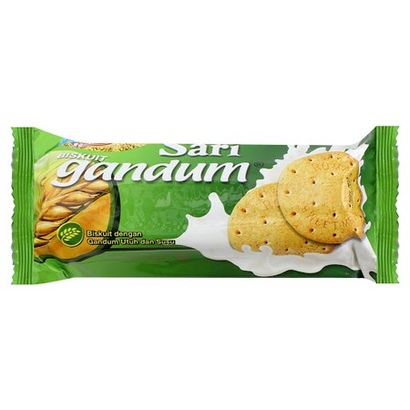 Roma Sari Gandum, sandwhich biscuit made of whole wheat that contains fiber, protein, and Vit B with tasty filling inside. The Double Goodness (health & tasty) in one sandwhich biscuit.
